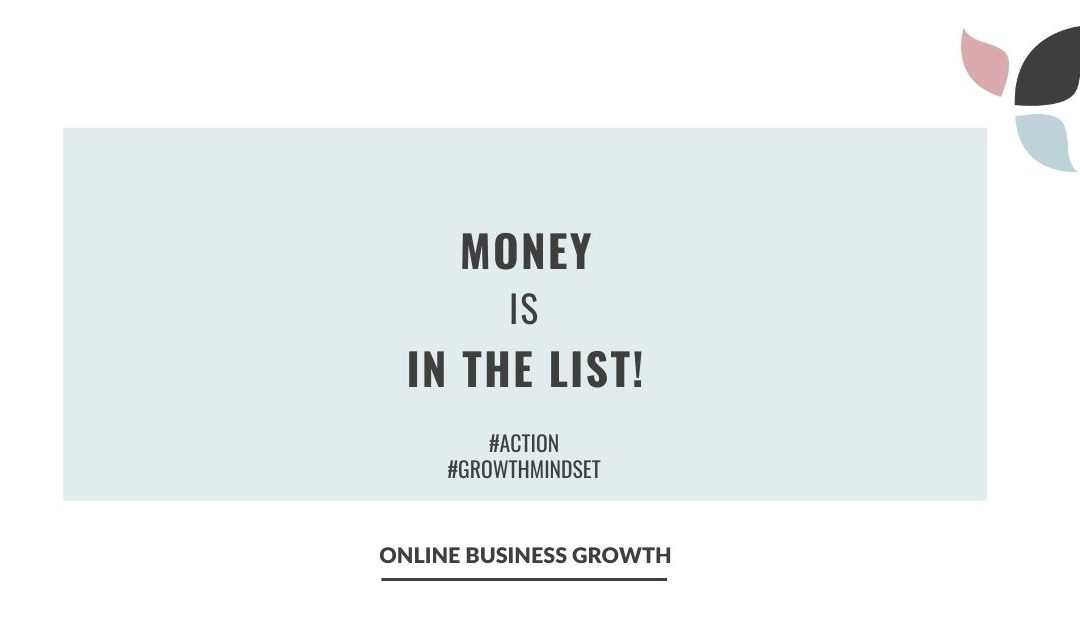 Money is in the list