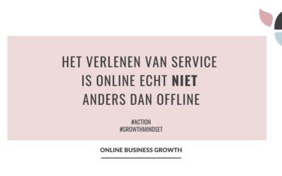 Het verlenen van service is online echt niet anders dan offline